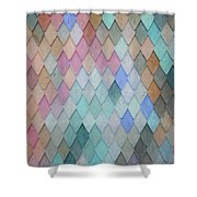 Colored Roof Tiles - Painting Shower Curtain
