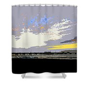 Colored Sky Shower Curtain