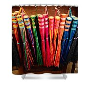 Colored Whisks Shower Curtain