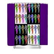 Colorfishpadron Shower Curtain