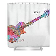 Colorful 1955 Mccarty Gibson Les Paul Guitar Patent Artwork Mini Shower Curtain by Nikki Marie Smith