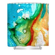 Colorful Abstract Art - Captured - By Sharon Cummings Shower Curtain