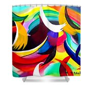 Colorful Abstract Art Shower Curtain