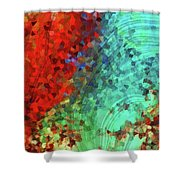 Colorful Abstract Art - Rejoice - Sharon Cummings Shower Curtain