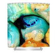Colorful Abstract Art - The Calling - By Sharon Cummings Shower Curtain