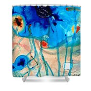 Colorful Abstract Art - The Reef - Sharon Cummings Shower Curtain