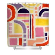Colorful Abstract Art - Urban Maze Shower Curtain
