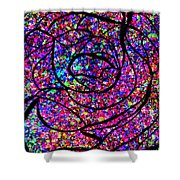 Colorful Abstract Rose  Shower Curtain
