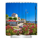 Colorful Adriatic Town Of Rogoznica Shower Curtain