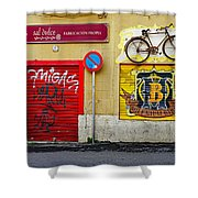 Colorful Advertising In Palma Majorca Spain Shower Curtain