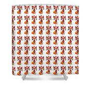 Colorful Angel Pattern Illustration Shower Curtain
