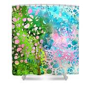 Colorful Art - Enchanting Spring - Sharon Cummings Shower Curtain