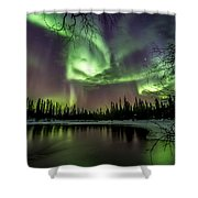 Colorful Auroras Shower Curtain
