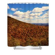 Colorful Autumn Panorama - West Virginia Shower Curtain