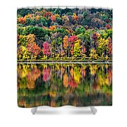 Colorful Autumn Reflections Shower Curtain