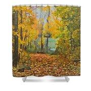 Colorful Autumn Trail Shower Curtain