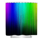 Colorful Background With Vertical Lines Shower Curtain