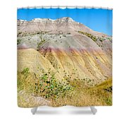 Colorful Badlands Of South Dakota Shower Curtain