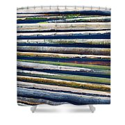 Colorful Bamboo Shower Curtain by Wim Lanclus