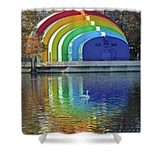 Colorful Bandshell Shower Curtain
