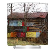 Colorful Barn Shower Curtain