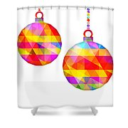 Colorful Baubles - 66 Shower Curtain