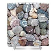 Colorful Beach Pebbles Shower Curtain