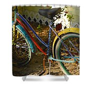 Colorful Bike Shower Curtain
