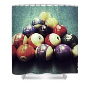 Colorful Billiard Balls Shower Curtain