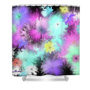 Colorful Blobs Shower Curtain