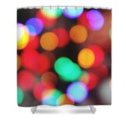 Colorful Bokeh Shower Curtain