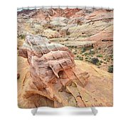 Colorful Boulder Above Wash 3 In Valley Of Fire Shower Curtain