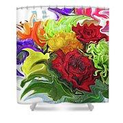 Colorful Bouquet Shower Curtain