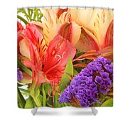 Colorful Bouquet Of Flowers Shower Curtain