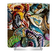 Colorful Bright Corals All In A Row  Shower Curtain