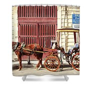 Colorful Cabs Of Malta Shower Curtain