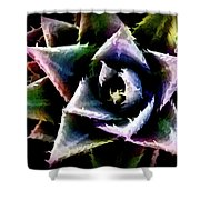 Colorful Cactus Shower Curtain