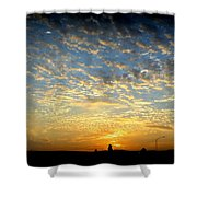 Colorful California Sunset Shower Curtain