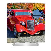 Colorful Car Show Shower Curtain