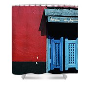 Colorful Caribbean Door Shower Curtain