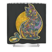 Colorful Cat Art Shower Curtain