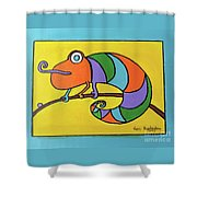 Colorful Chameleon Shower Curtain