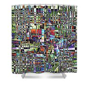 Colorful Chaotic Composite Shower Curtain