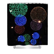 Colorful Christmas Lights Decoration Display In Madrid, Spain. Shower Curtain