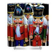Colorful Christmas Nutcrackers Shower Curtain