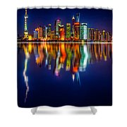 Colorful City Reflection 17 06 2015 Shower Curtain