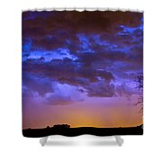 Colorful Cloud To Cloud Lightning Shower Curtain