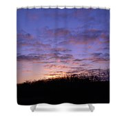Colorful Clouds In The Sky Shower Curtain