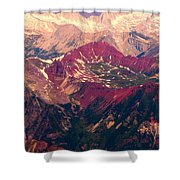 Colorful Colorado Rocky Mountains Shower Curtain