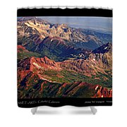 Colorful Colorado Rocky Mountains Planet Art Poster  Shower Curtain